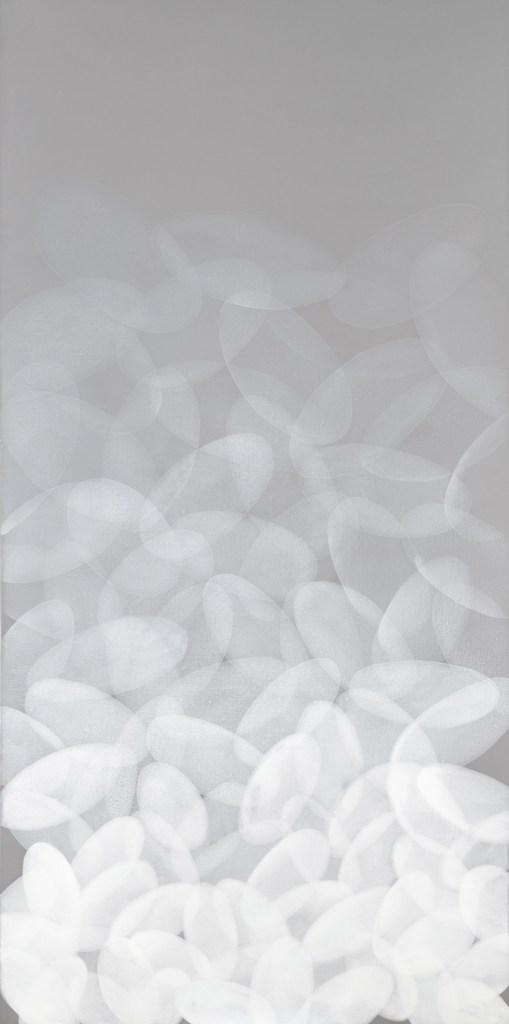 Yvonne Behnke white on light grey painting