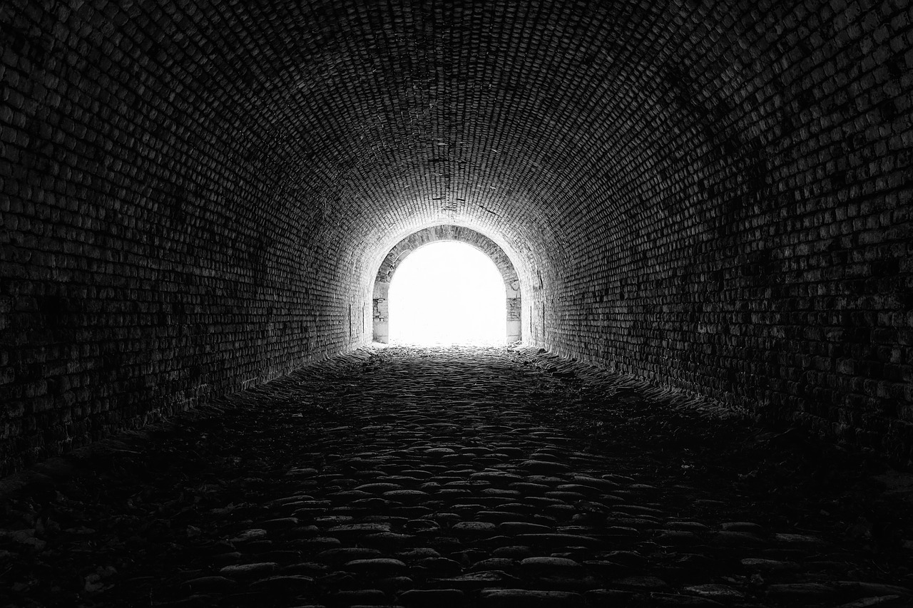 light at the end of a dark tunnel (choosing to hope)