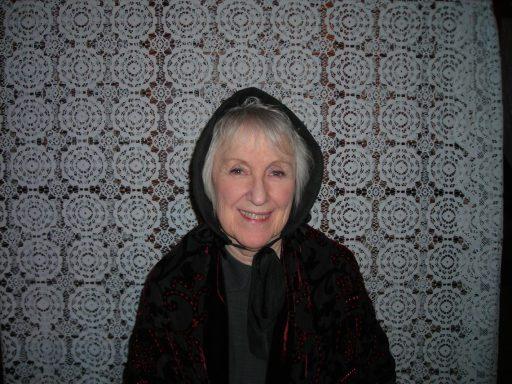 Yvonne in costume.