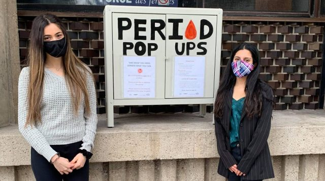 Period pop up post banner