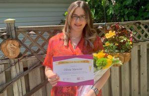 Olivia Mancini is the 2021 recipient of the Olga Cloke Bursary, sponsored by the Zonta Club of Hamilton 1