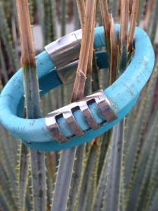 Designs by Jeff blue bracelet