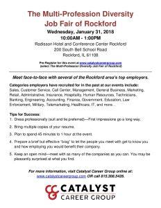 The Multi-Profession Diversity Job Fair of Rockford