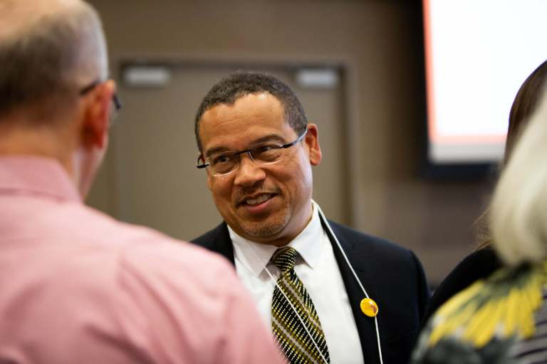 Congressman Keith Ellison interacting with the crowd at Sweet Success 2019