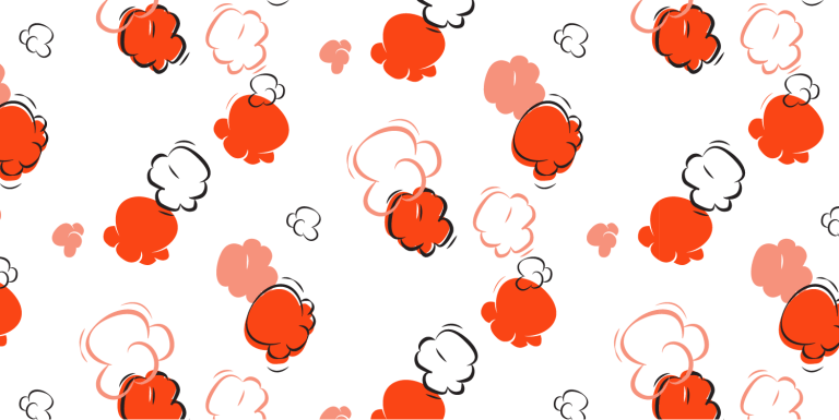 illustrated popcorn pattern