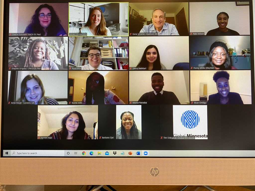 photo of Zoom virtual meeting