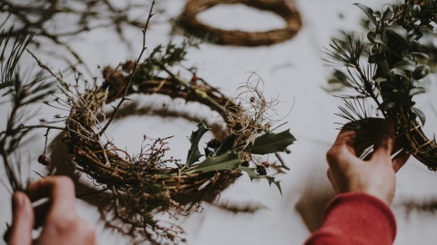 diy wreath minimalist decor for xmas - soyvirgo.com