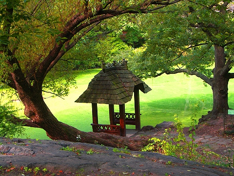 NY- Central Park- Gazebo