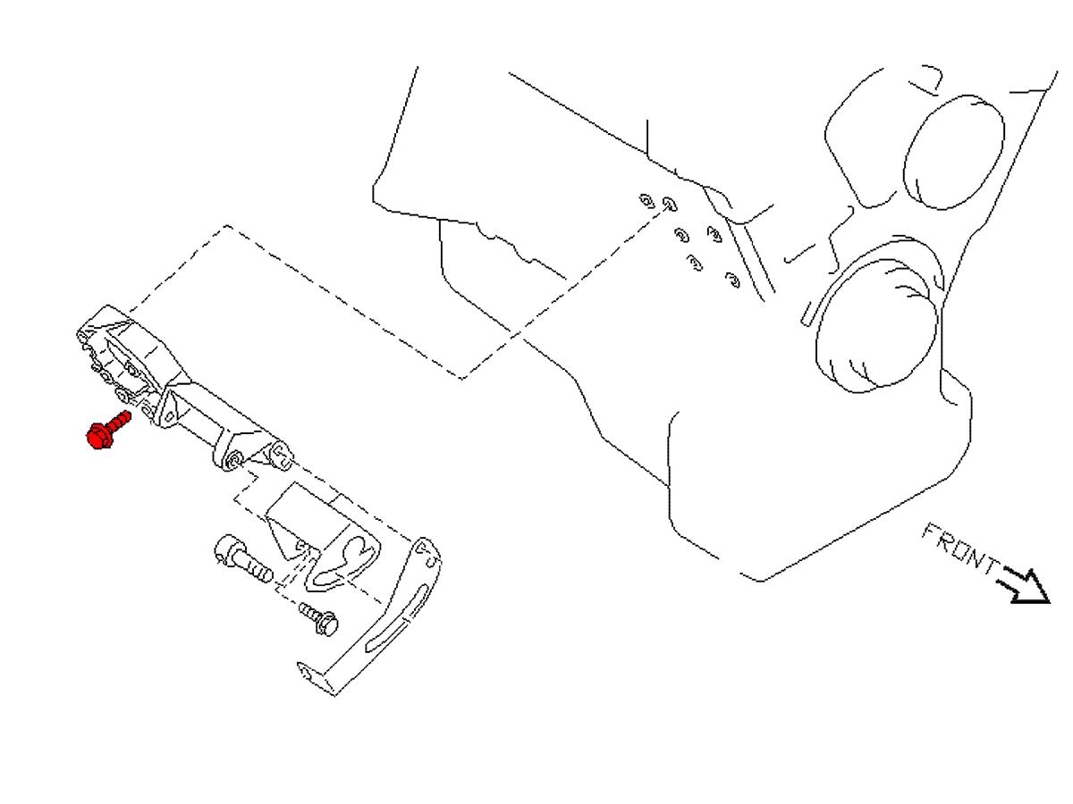 Oem Power Steering Bracket Long Bolt Z1 Motorsports