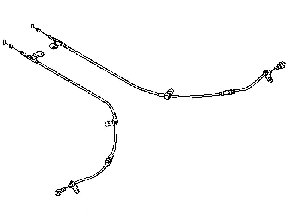Oem G37 Sedan Rear Parking Brake Cable Performance Oem