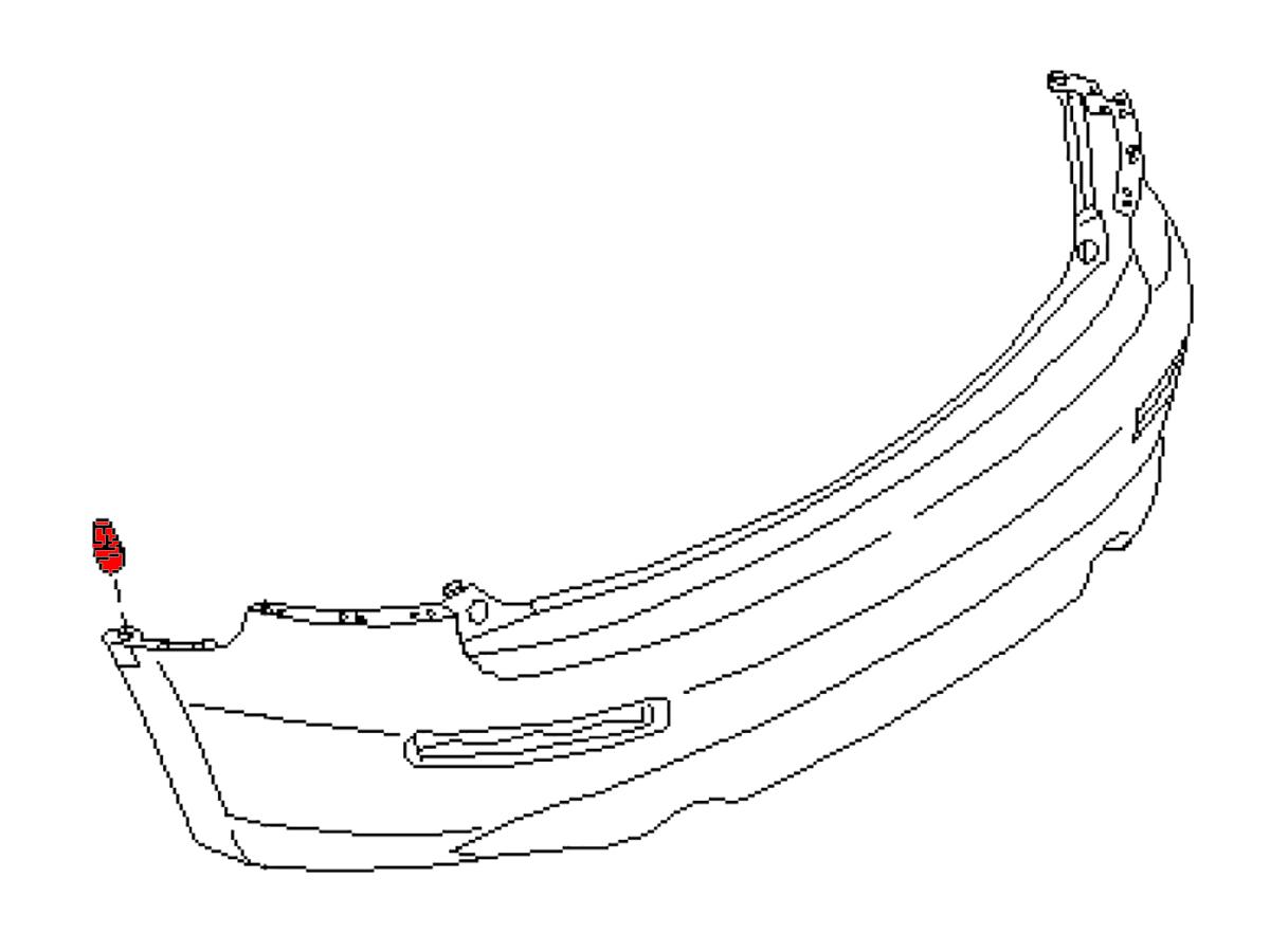Oem Fx35 Fx45 Rear Fascia Side Grommet Z1 Motorsports