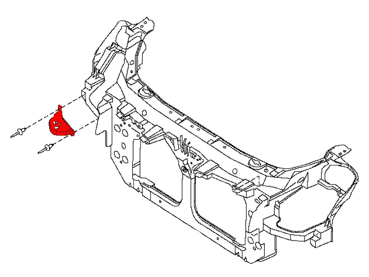 Oem G35 Front Radiator Core Support Side Bracket Z1