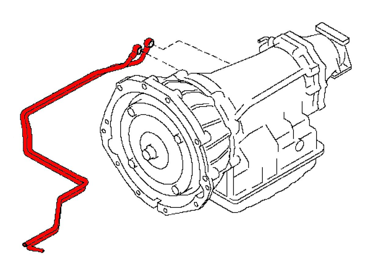 Oem G37 G35 Sedan Automatic Transmission Cooler Line Z1