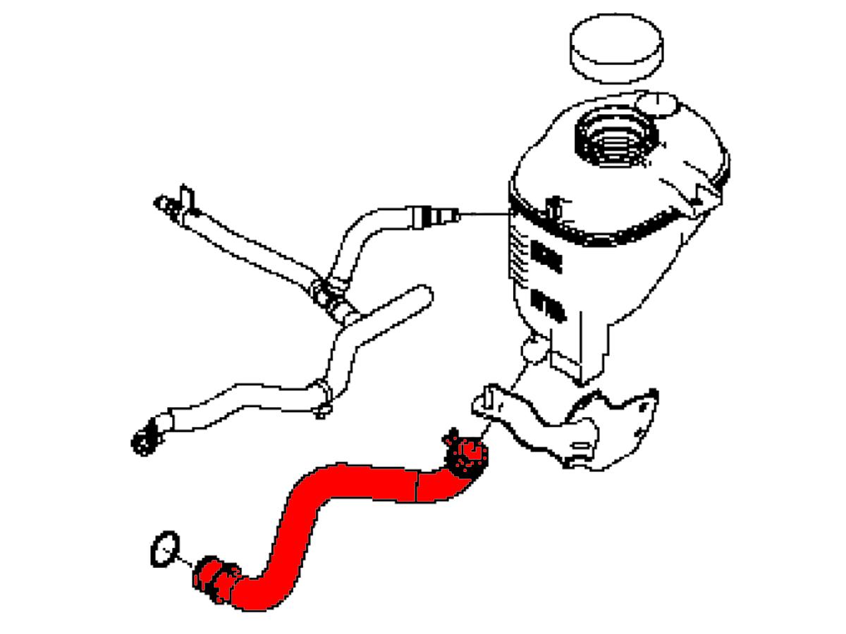 Oem Q50 Q60 Radiator Reservoir Suction Hose Z1 Motorsports