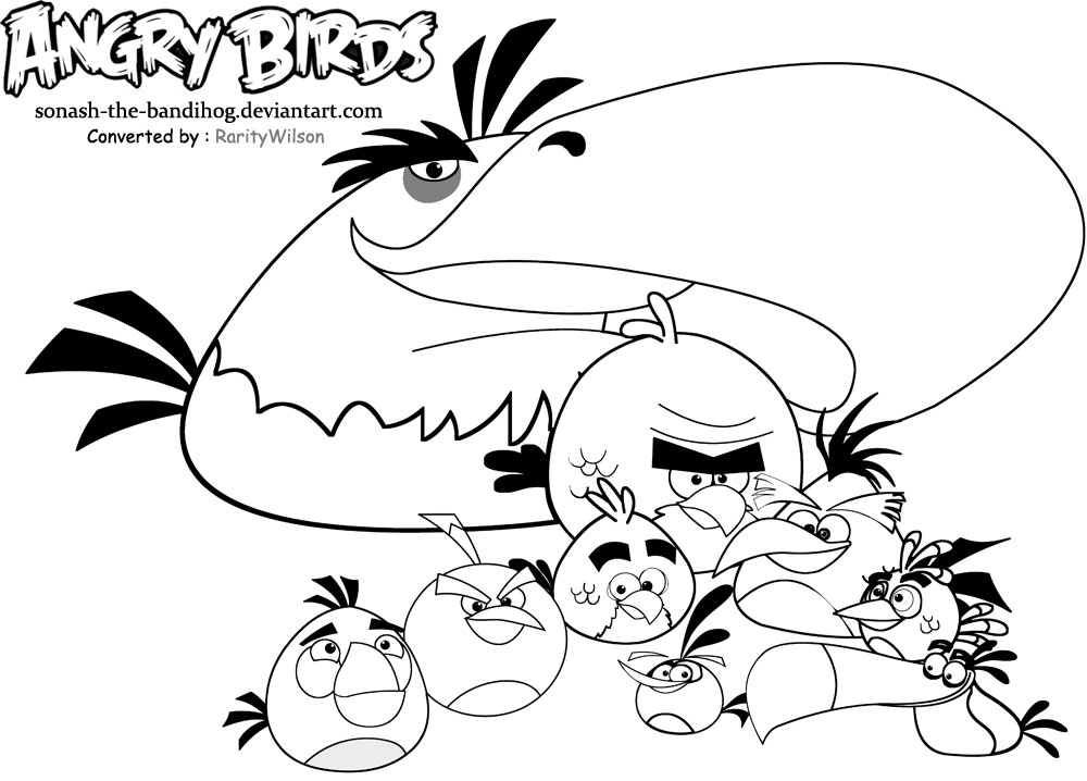 pics photos angry birds and nest coloring page