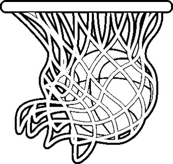 basketball clipart z31 coloring page