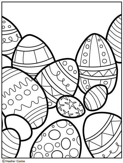 Easter Egg Coloring Pages Z31