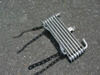 Z32オイルクーラー取り付けステー加工写真