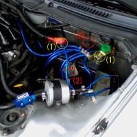 フェアレディZ32 ドライバッテリー取り付け写真1
