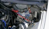 Z32バッテリー移設配線写真(その2)