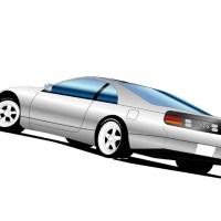 フェアレディZ Z32シルバーのイラスト