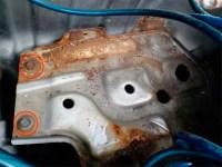 Z32バッテリー下周辺のサビ写真