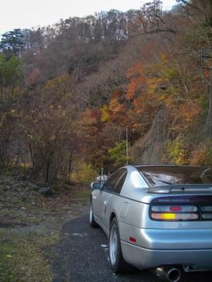 Z32(300ZX)と紅葉 写真