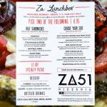 Za51 Lunchbox Menu