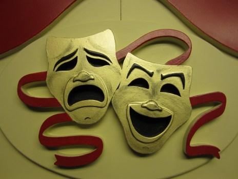 Maskers geschilderd