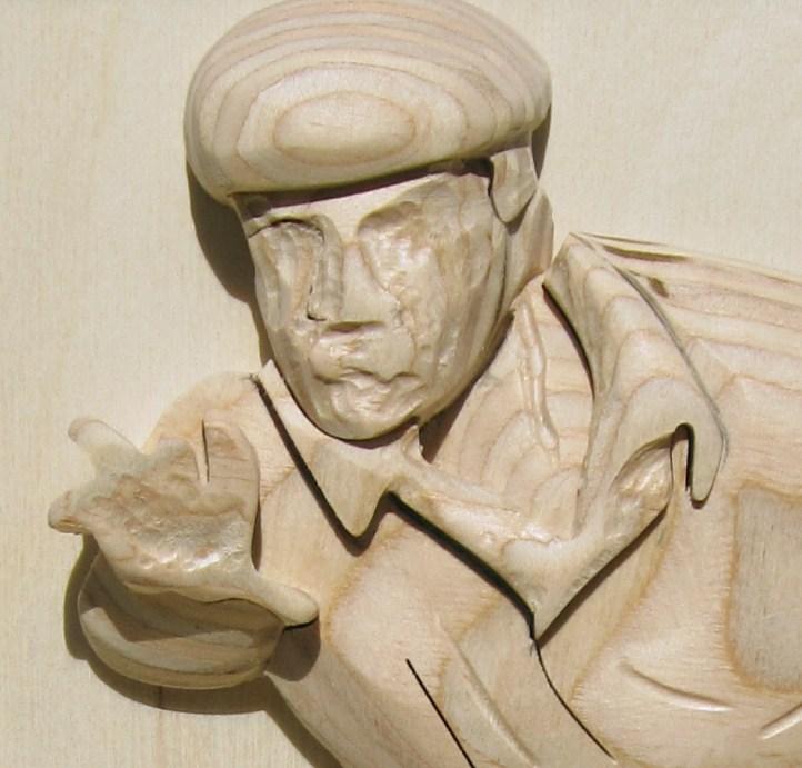 Illustratie: detail van een houtsnede.