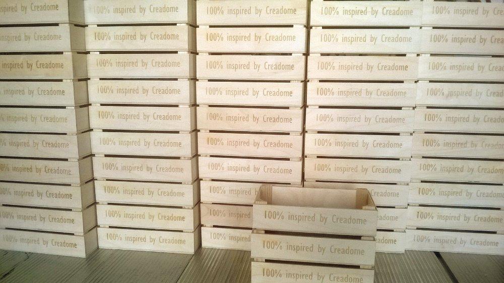 Mooie kistjes met teksten ingebrand.