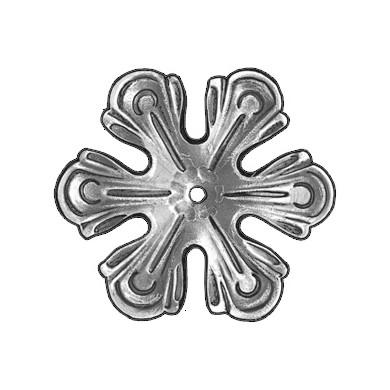 fleur decor fer forgefixation centrale