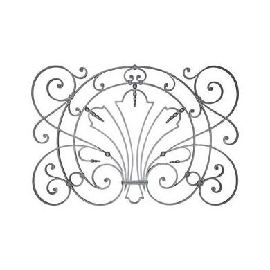 panneau decoratif acier grenaille fer forge noyaux