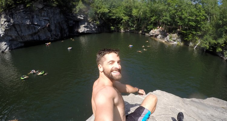 Go Cliff Jumping Becket Quarry, Massachussetts [Video] | Zachary