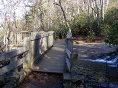 Bridge to observation area above Upper Crabtree Falls