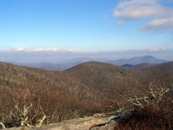 Northeast view of St. Mary's Wilderness and Three Ridges Mountain - from Spy Rock