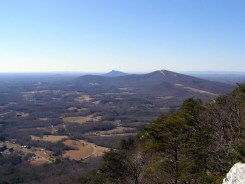 Sauratown Mountain and Pilot Mountain - from Cook's Wall