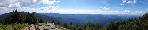 Panorama from Mt. Craig