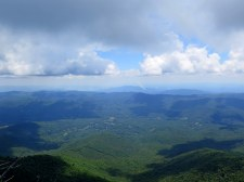East view from Black Mountain Crest Trail of Linville Gorge