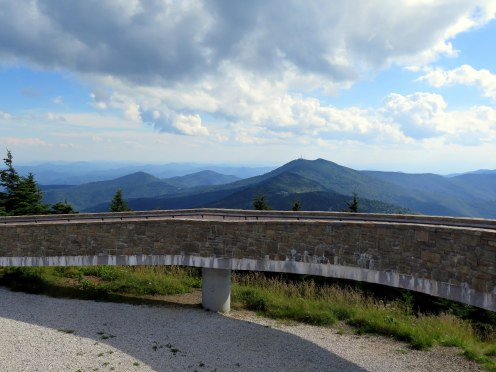 South view from Mt. Mitchell of southern Black Mountains and Pinnacle