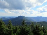 Mt. Gibbes and Clingmans Peak rise high above Stepps Gap