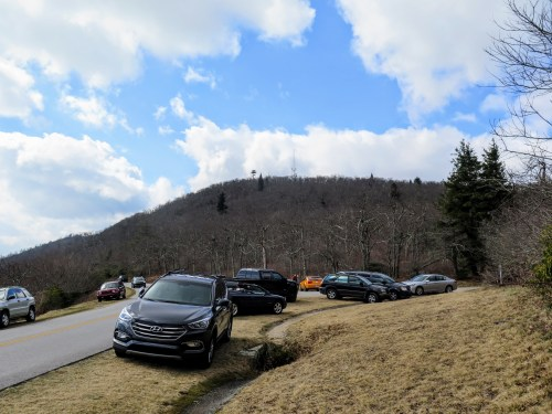 Limited parking at Fryingpan Gap
