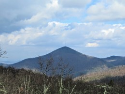 Zoomed in view of Mount Pisgah