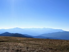 Zoomed in view of the Great Smokies - Mt Sterling (left), Mt. Guyot (center right), and Mt. Cammerer (right)