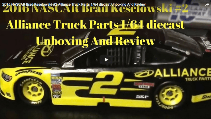 2016 NASCAR Brad Keselowski #2 Alliance Truck Parts 1/64 diecast Unboxing And Review