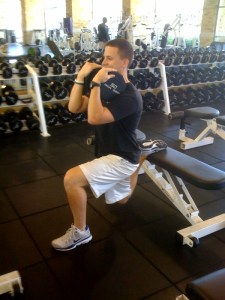 Bulgarian Split Squat done by Daniel, one of our interns this semester