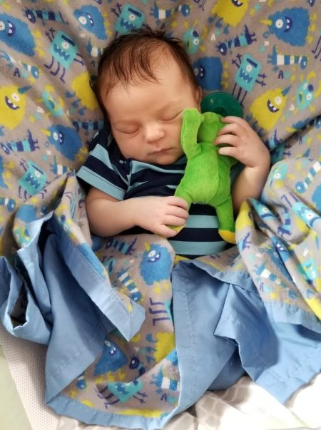 Baby and Frog