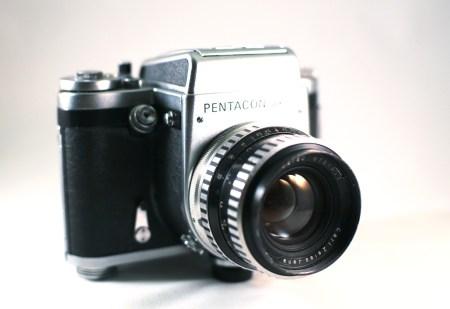 Pentacon Six camera.  Photo by Zach Horton.