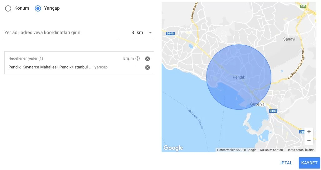 google ads konum hedefleme