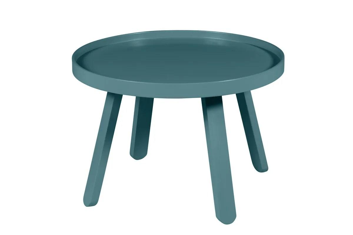 table basse bleu canard ronde o 58 cm mjuk